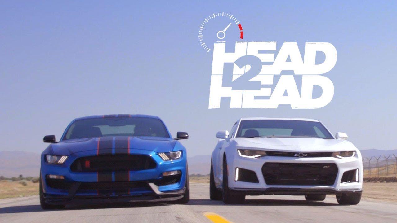 Muscle Car Battle Camaro Zl1 Vs Shelby Mustang Gt350r