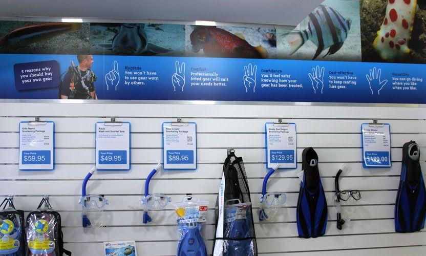 Scuba Gear Retail Displays