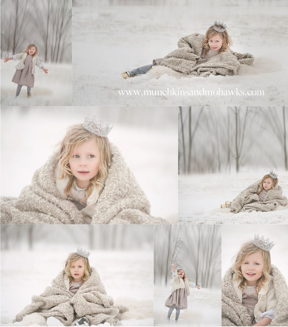 If i EVER have a daughter I SO want a chance to do a snow princess session with her
