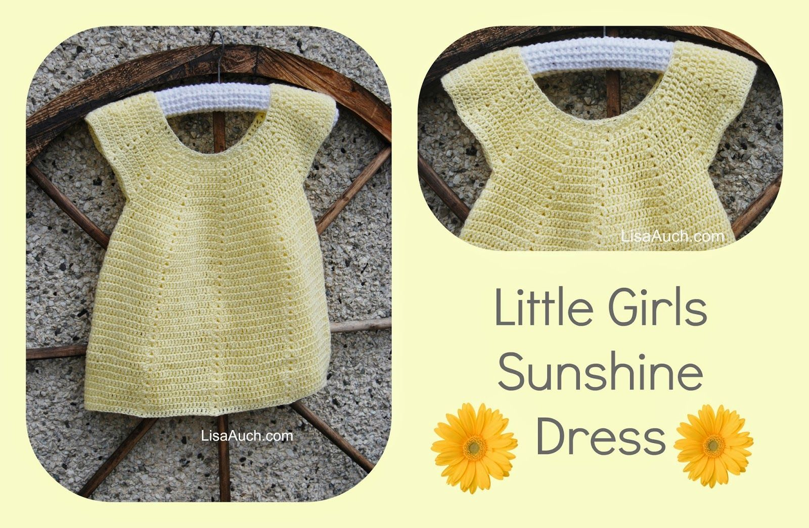 Free Crochet Pattern Baby Dress That is Simply Adorable. | Patrones ...