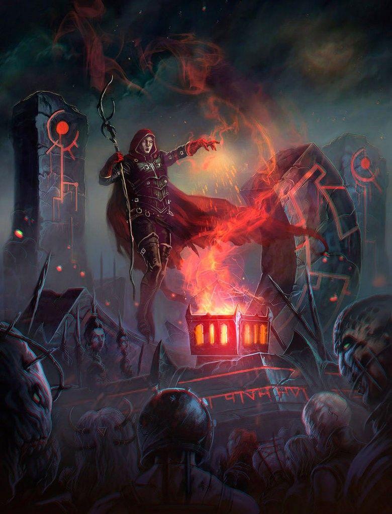 Necro-army   Elementalism, Magic, Superpowers in 2019   Fantasy art
