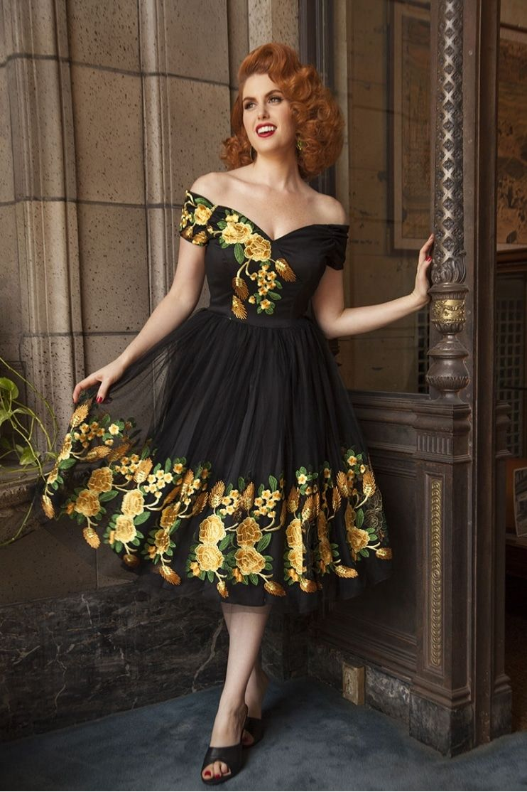 Fatale southern belle embroidered prom dress clothes for me