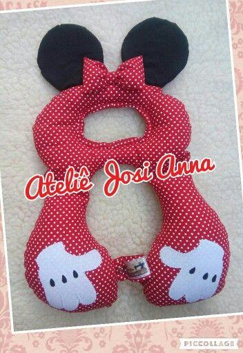 Almofada pescoço Minnie Ateliê Josi Anna #ateliejosianna #almofadapescoço #cadeirinha #minnie