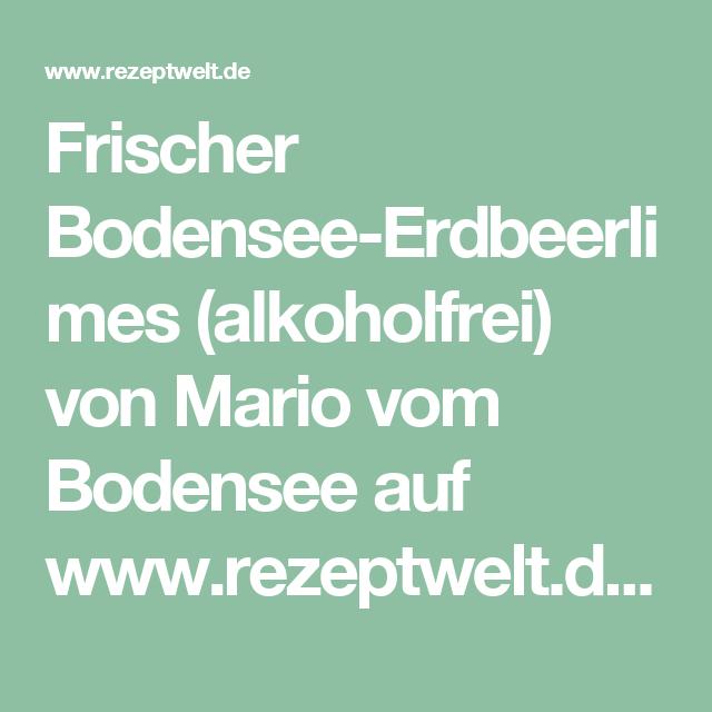Frischer Bodensee Erdbeerlimes Alkoholfrei Rezept
