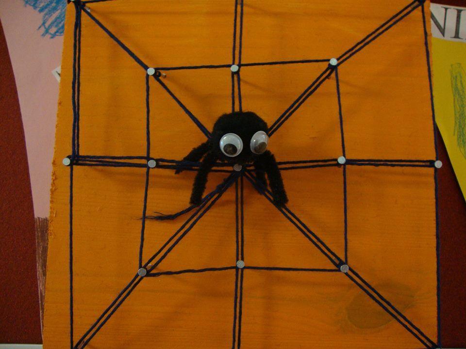"""""""Hämähäkki"""". Hämähäkin vartalo: valmis pehmopallo, johon silmät ja jalat. oikeaa määrää ei välttämättä mahdu... (Alakoulun aarreaitta / Virva Wahlstedt)"""