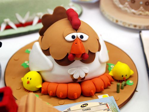 cute chicken cake Learn How to Decorate Cakes Visit Online Cake