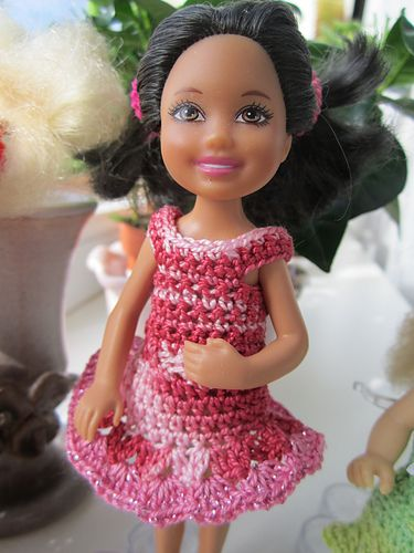 A top, skirt and dress pattern for Chelsea (Barbie\'s littlest sister ...