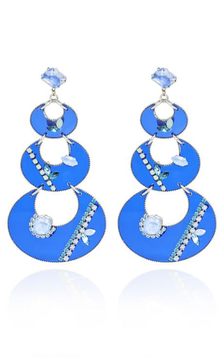 Erickson Beamon Who Are You? Crescent Drop Earrings