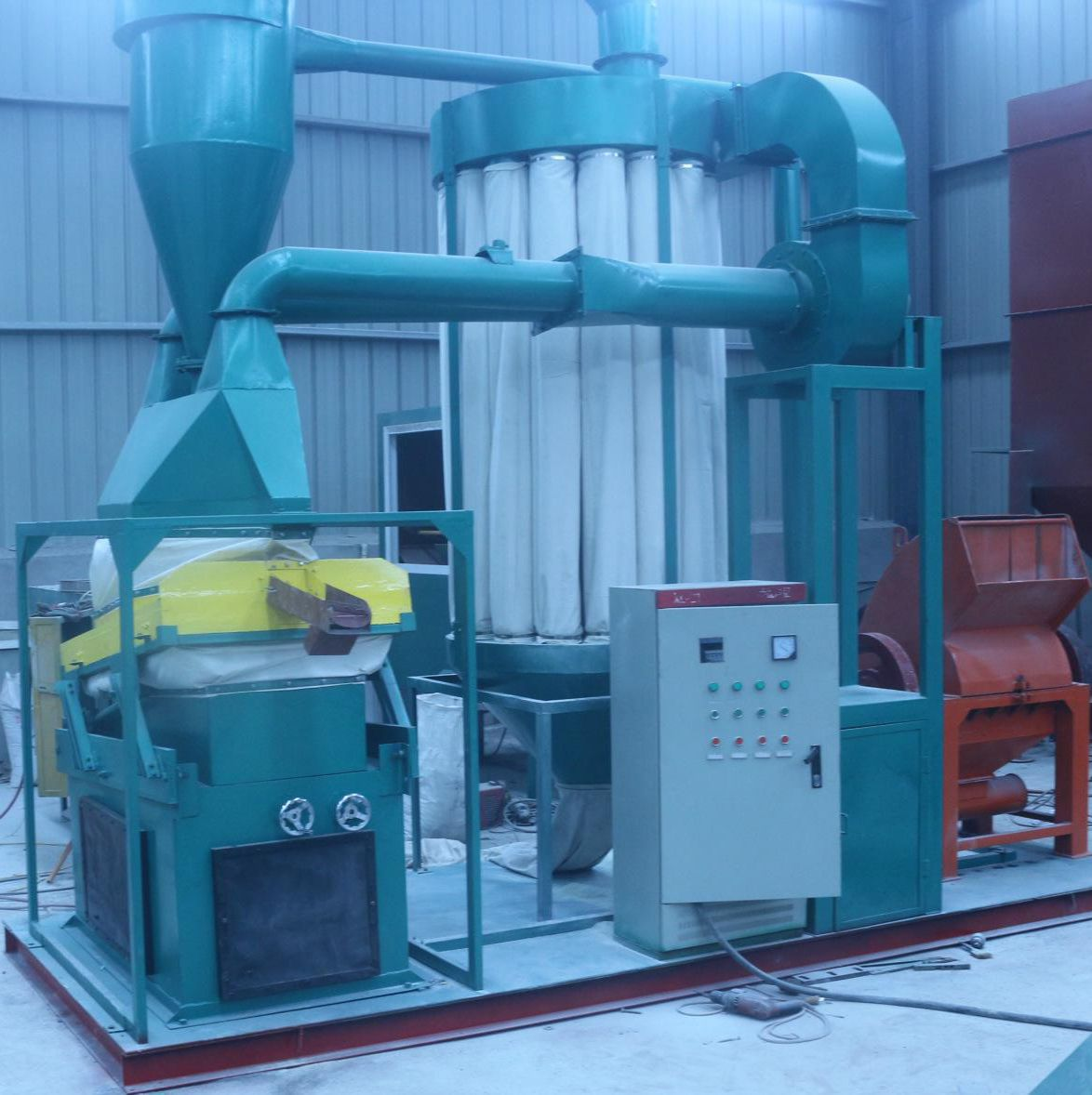 granulation and recycling machine for copper aluminum wire cable wiring harnesses communication cables household electric wire  [ 1174 x 1178 Pixel ]