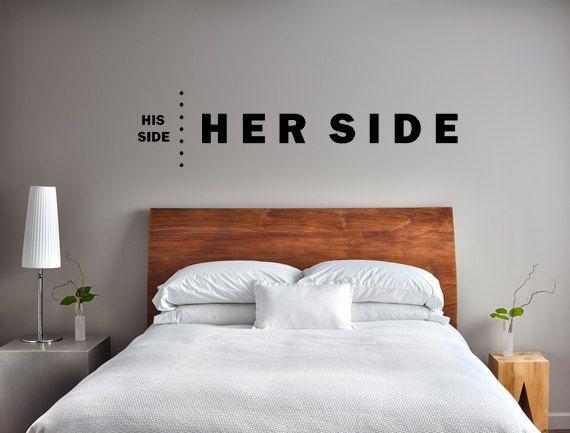 His Side Her Side Bedroom Wall Decor Bedroom Wall Decals Etsy In 2020 Wall Decals For Bedroom Wall Decor Bedroom Bedroom Decals