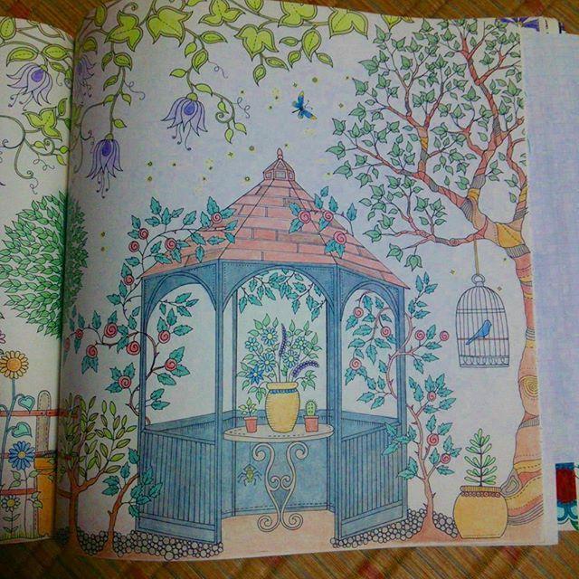 #repost #secretgarden#johannabasford#blueblack#ひみつの花園 #おとなのぬりえ #ジョハンナバスフォード#coloriage#コロリアージュ