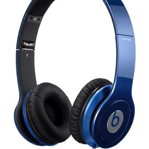 Beats by Dr. Dre - Beats Solo High-Definition On-Ear Headphones - Dark Blue - Dark Blue - Larger Front