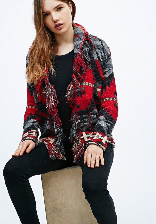 Ralph Lauren Denim Supply Women Southwestern Aztec Indian Knit Sweater  Cardigan   Clothing, Shoes   Accessories, Women s Clothing, Sweaters   eBay! 211bc04df0c5