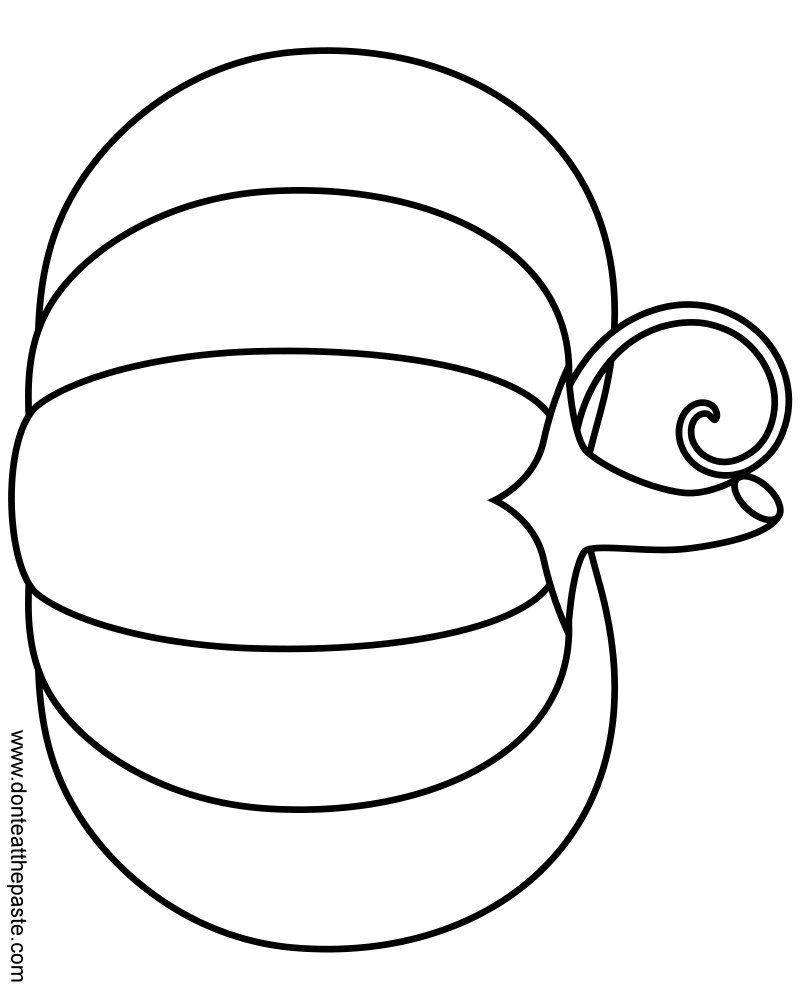 A Simple Pumpkin Coloring Page In And Transparent Format