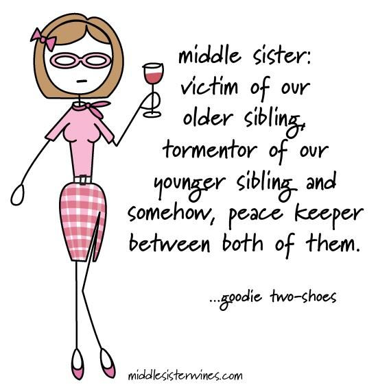 Goodie Two-Shoes: Middle Sister - Victim of our older sibling