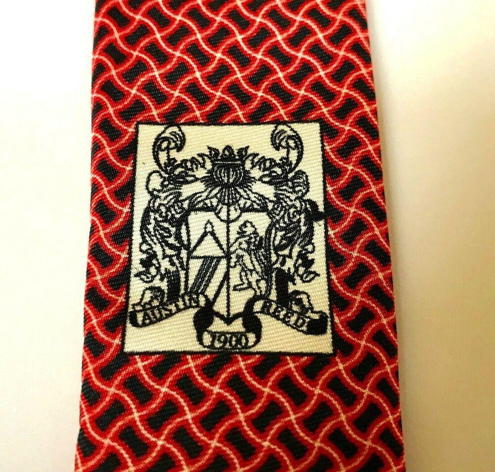 Austin Reed British Silk Necktie Neck Tie Red Black English 100 Silk Nwt Austinreed Tie Austin Reed Black And Red Ties Mens