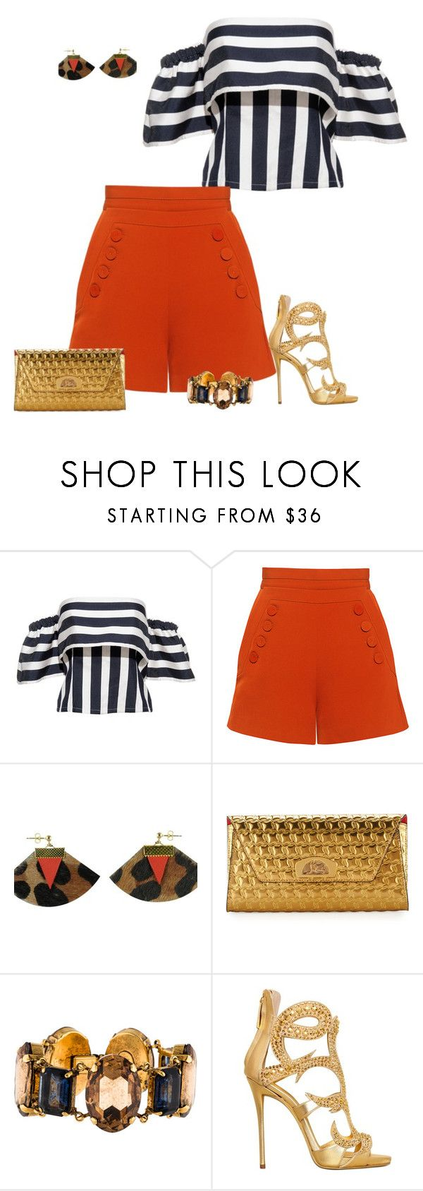 """Ms. Paula!"" by brandena ❤ liked on Polyvore featuring Finders Keepers, Charly James, Christian Louboutin, Erickson Beamon and Giuseppe Zanotti"