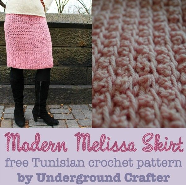 Modern Melissa Skirt, free Tunisian #crochet pattern with video ...