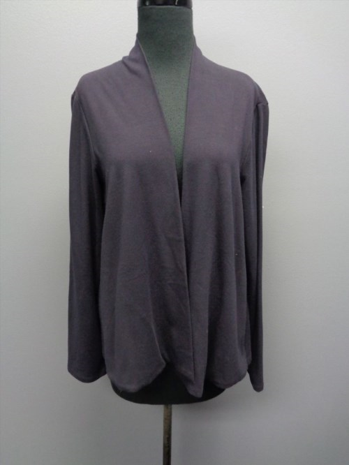 38.80$  Buy here - http://vinjp.justgood.pw/vig/item.php?t=sfyxin38682 - EILEEN FISHER Navy Blue Cotton Blend Open Front Cardigan Sweater Size M SM6825