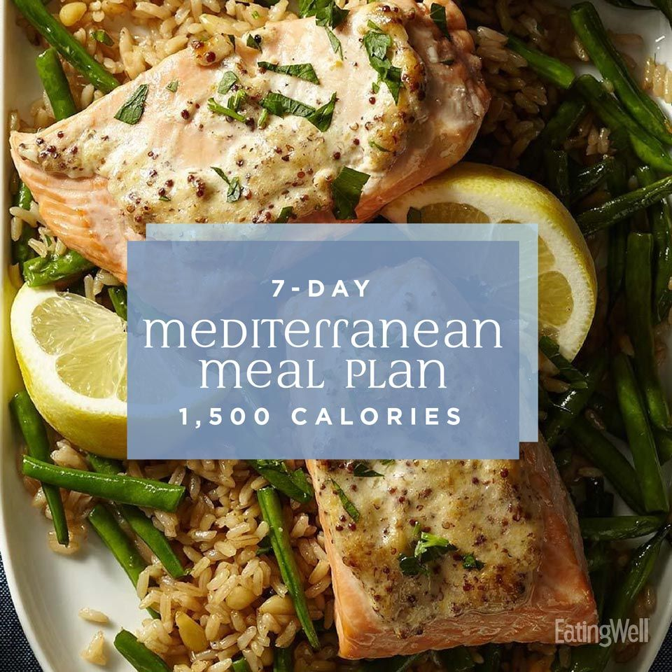 7-Day Mediterranean Meal Plan: 1,500 Calories
