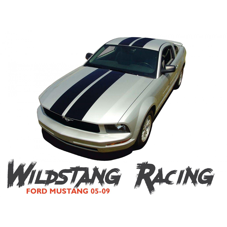 Ford Mustang Wildstang Hood Roof Trunk Vinyl Racing Stripes Kit 2005 2006 2007 2008 2009 Vinyl Racing Stripes Ford Mustang Stripe Kit