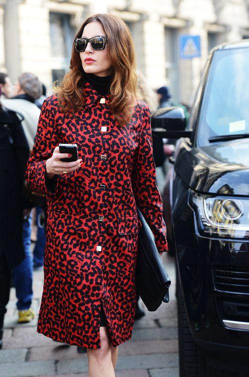 Afbeeldingsresultaat voor red leopard  street style