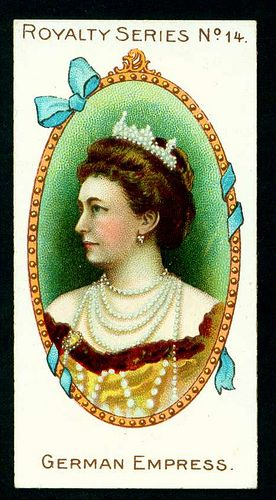 1902. Gallaher's Cigarettes. Royalty Series. No. 14:  German Empress.