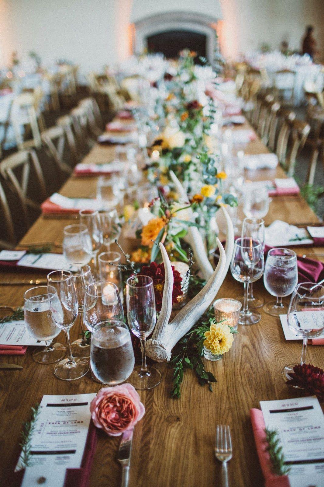 Farm table bud vases antler decor a fist full of bolts wedding reviewsmspy