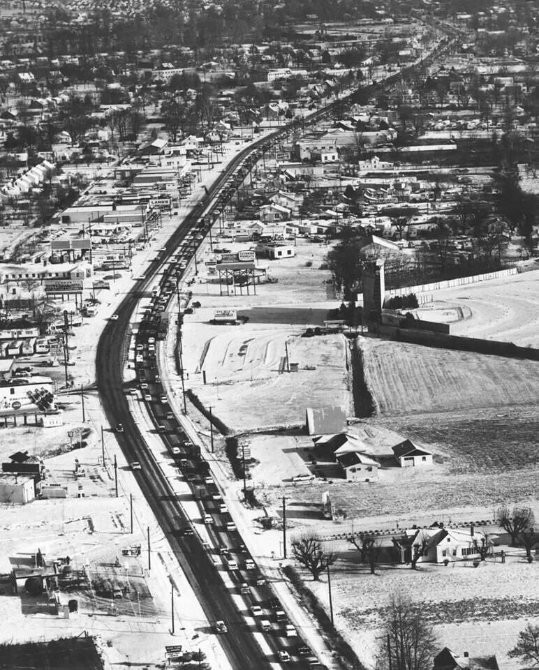 3157 Best Images About Big Lou S Louisville On Pinterest: Dixie Hwy In It's Heyday, Note Drive In Movie At Right