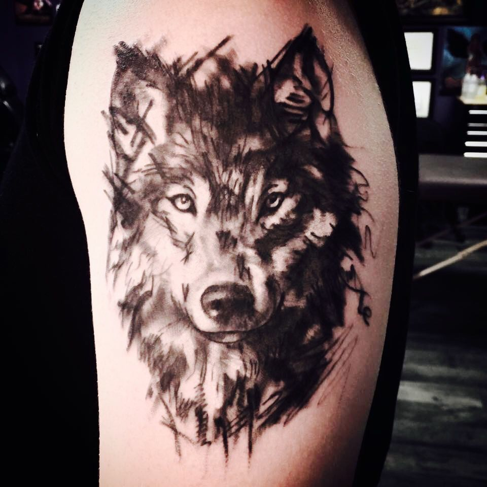 Pin By Trapanivalentino On Nick Wolf Tattoo Sleeve Wolf Tattoos Men Wolf Tattoos