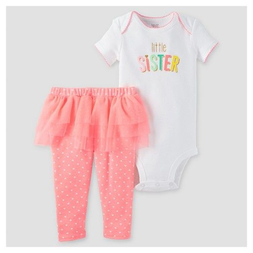 Target Baby Girl Clothes Magnificent Baby Girls' Sister 2Pc Tutu Set Pinkwhite  Just One You™ Made Design Inspiration