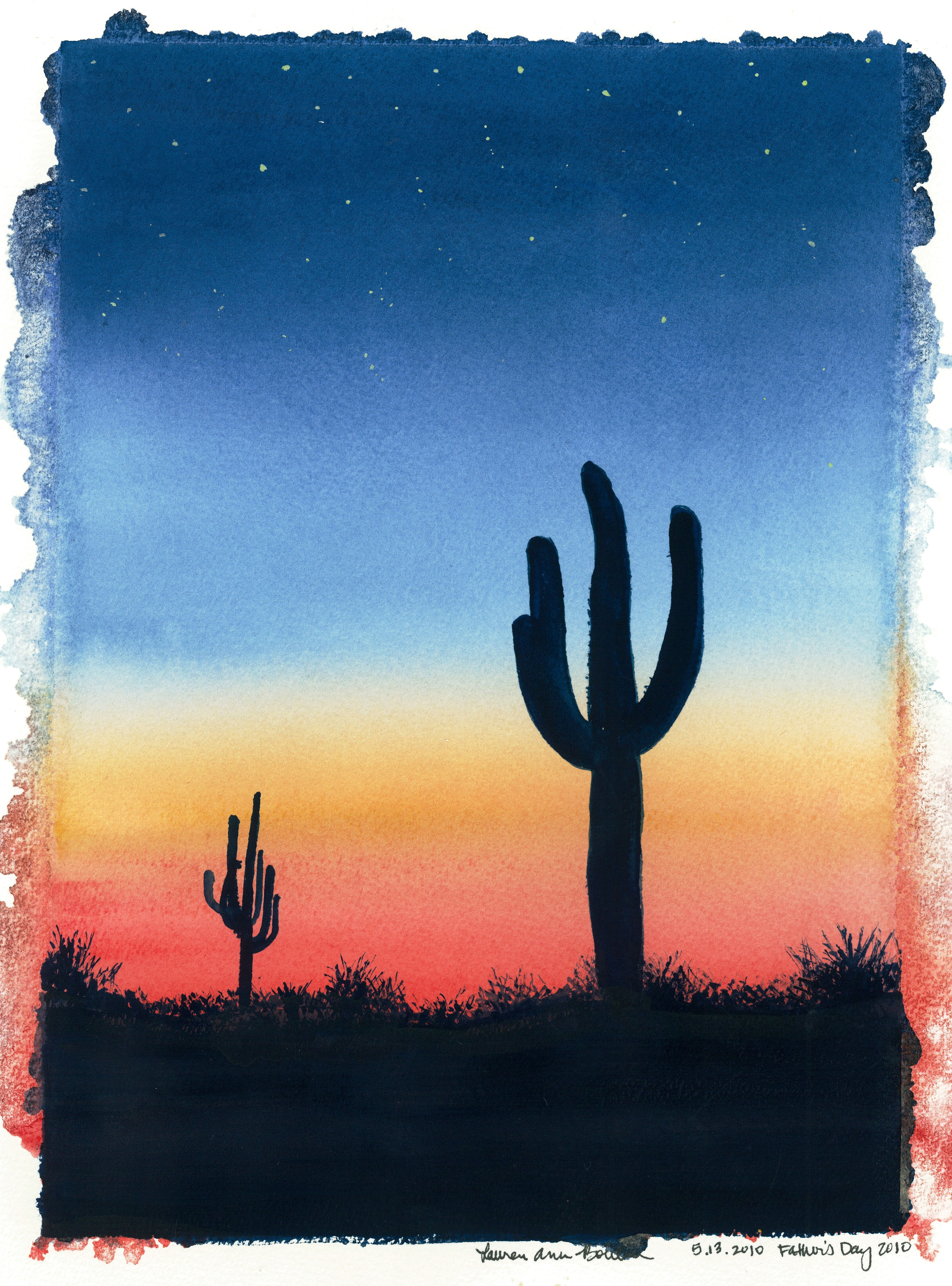 Cactus Sunset' Painted for my Dad, Father's Day 2010 | art ...