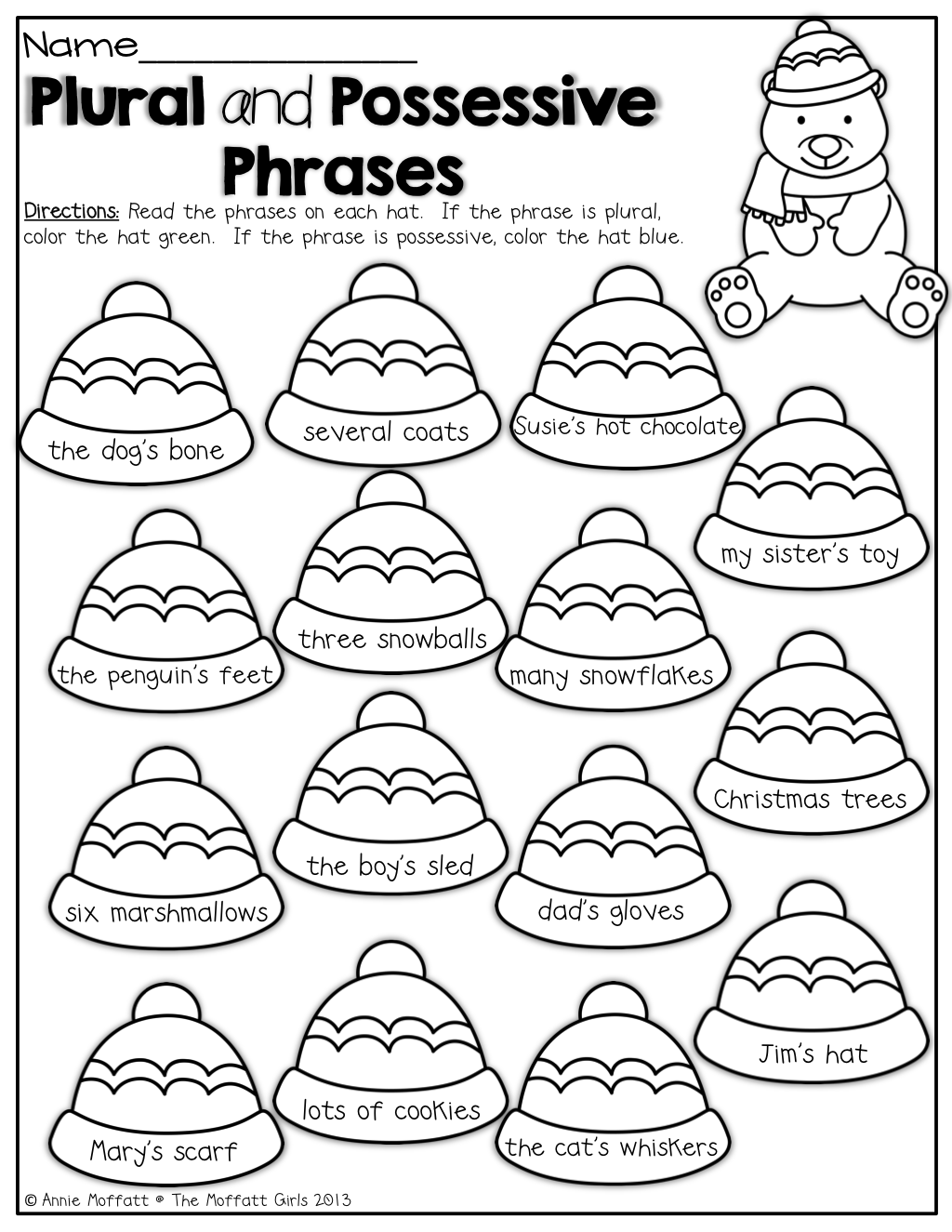 Plural And Possessive Phrases Color By The Code