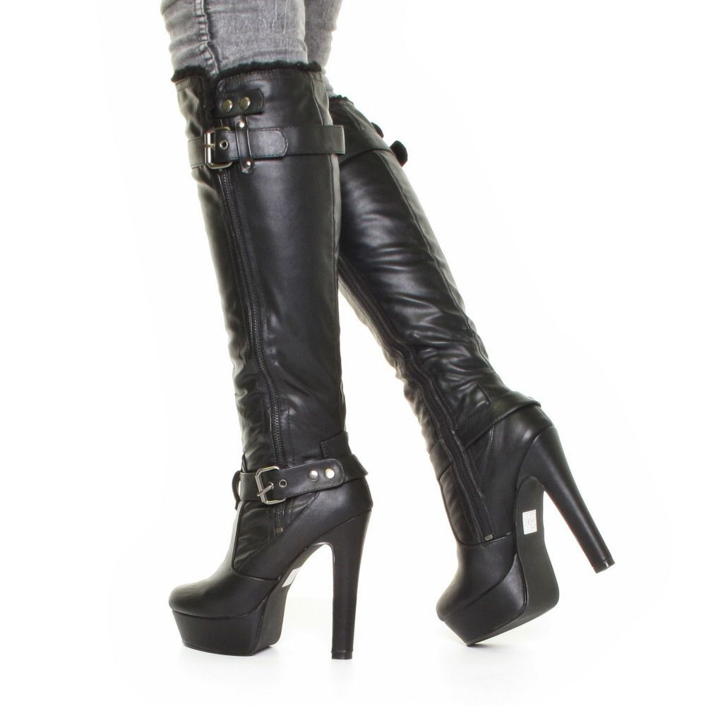 235459762a15 Goth Black High Heel Boots