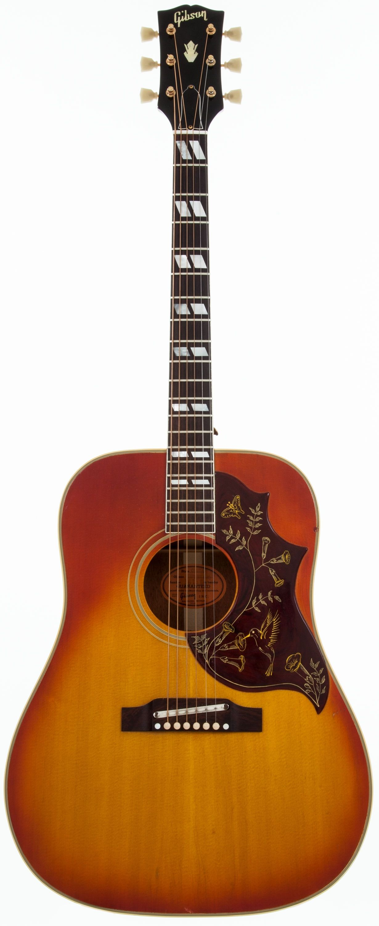 1965 gibson hummingbird sunburst acoustic guitar 361684 lot 51016 heritage auctions. Black Bedroom Furniture Sets. Home Design Ideas