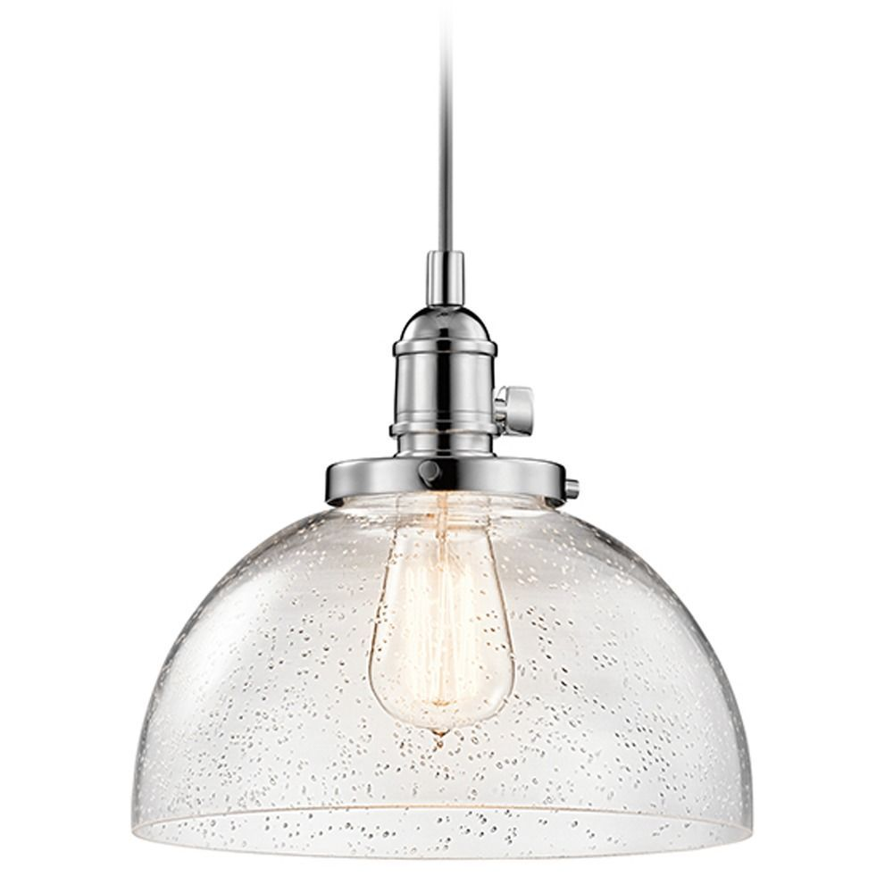 Seeded Glass Mini Pendant Light Chrome Kichler Lighting At