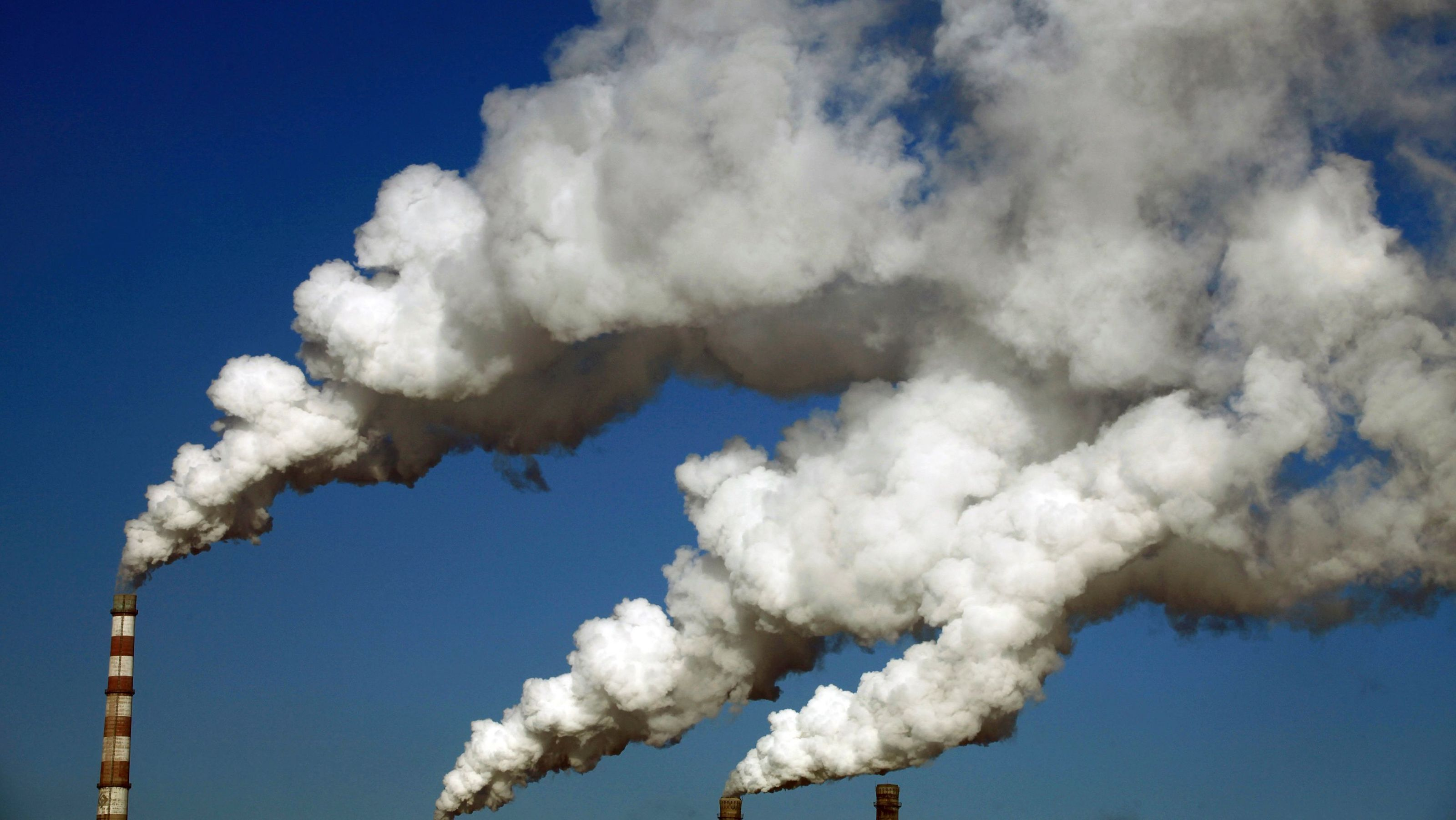 Smoke Billows From The Chimneys Of A Heating Plant In Jilin Jilin