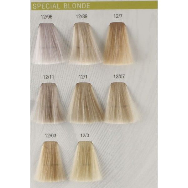 Koleston perfect special blonde color chart hair charts wella colour also pinterest rh