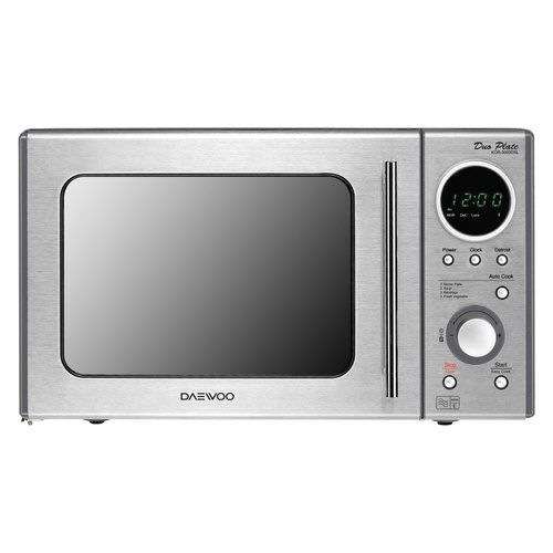 Daewoo 20 L 800w Countertop Microwave Stainless Steel Oven
