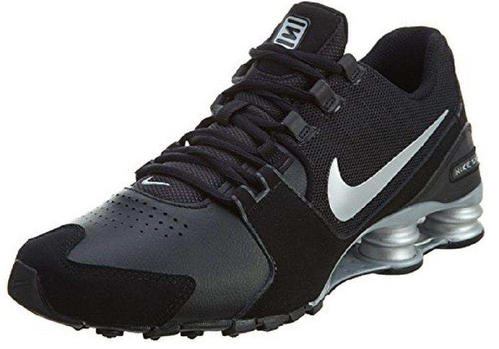 d76632de830d Nike Men s Shox Avenue Leather Running Shoes 833584 001 Black Metallic  Silver  NikeAir  RunningCrossTrainingSneakers