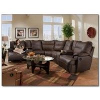 Rhapsody Leather Reclining Sectional