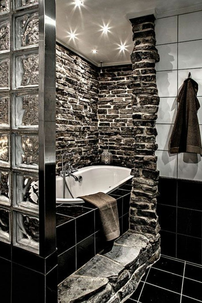 Mettons des briques de verre dans la salle de bains Baths interior