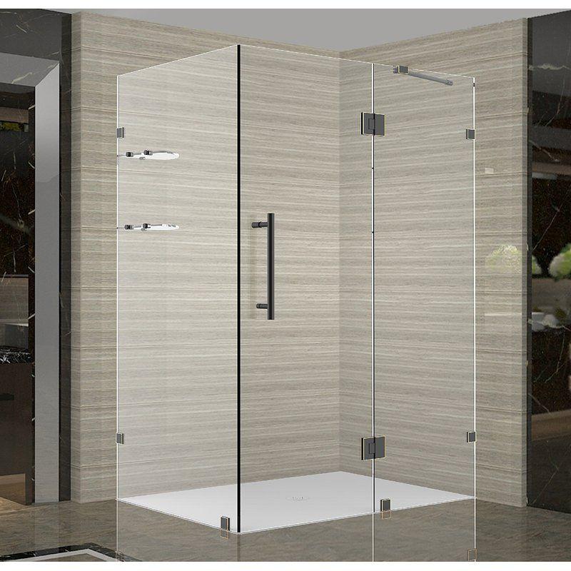 Avalux Gs 33 X 72 Rectangle Hinged Shower Enclosure Frameless Shower Enclosures Shower Enclosure Neo Angle Shower Enclosures
