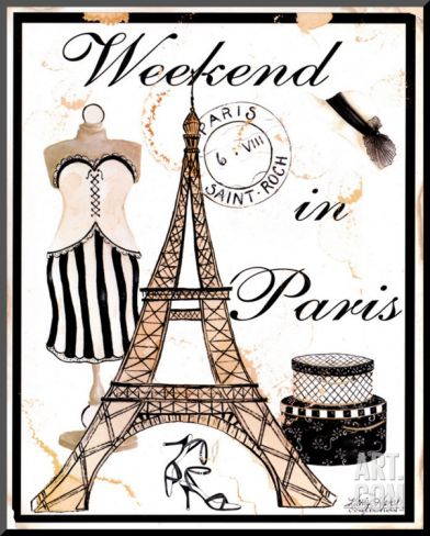 Weekend in Paris Mounted Print by Kathy Hatch at Art.com