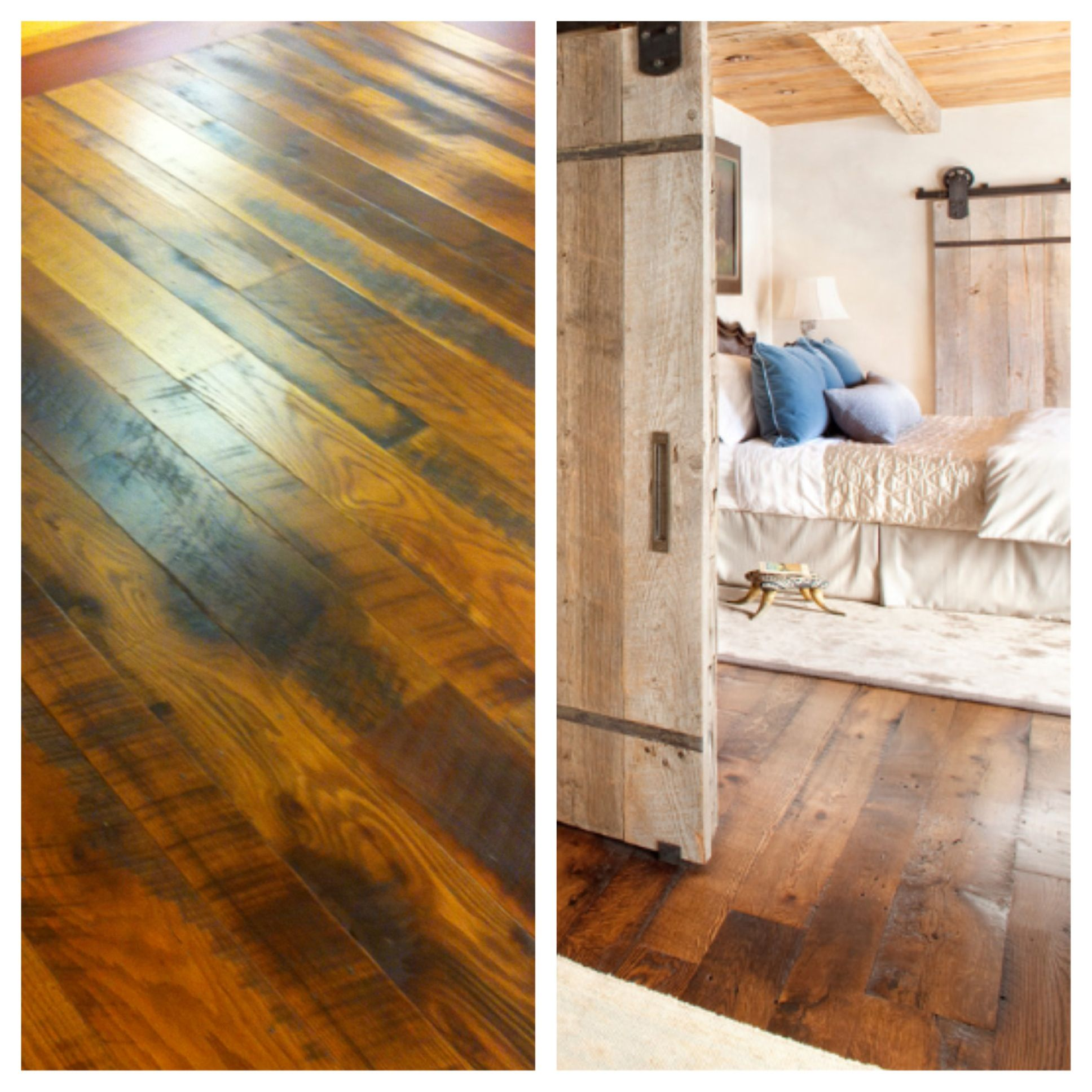 Reclaimed Barn Board Oak floors!!! Probably our most favorite part of the house ❤