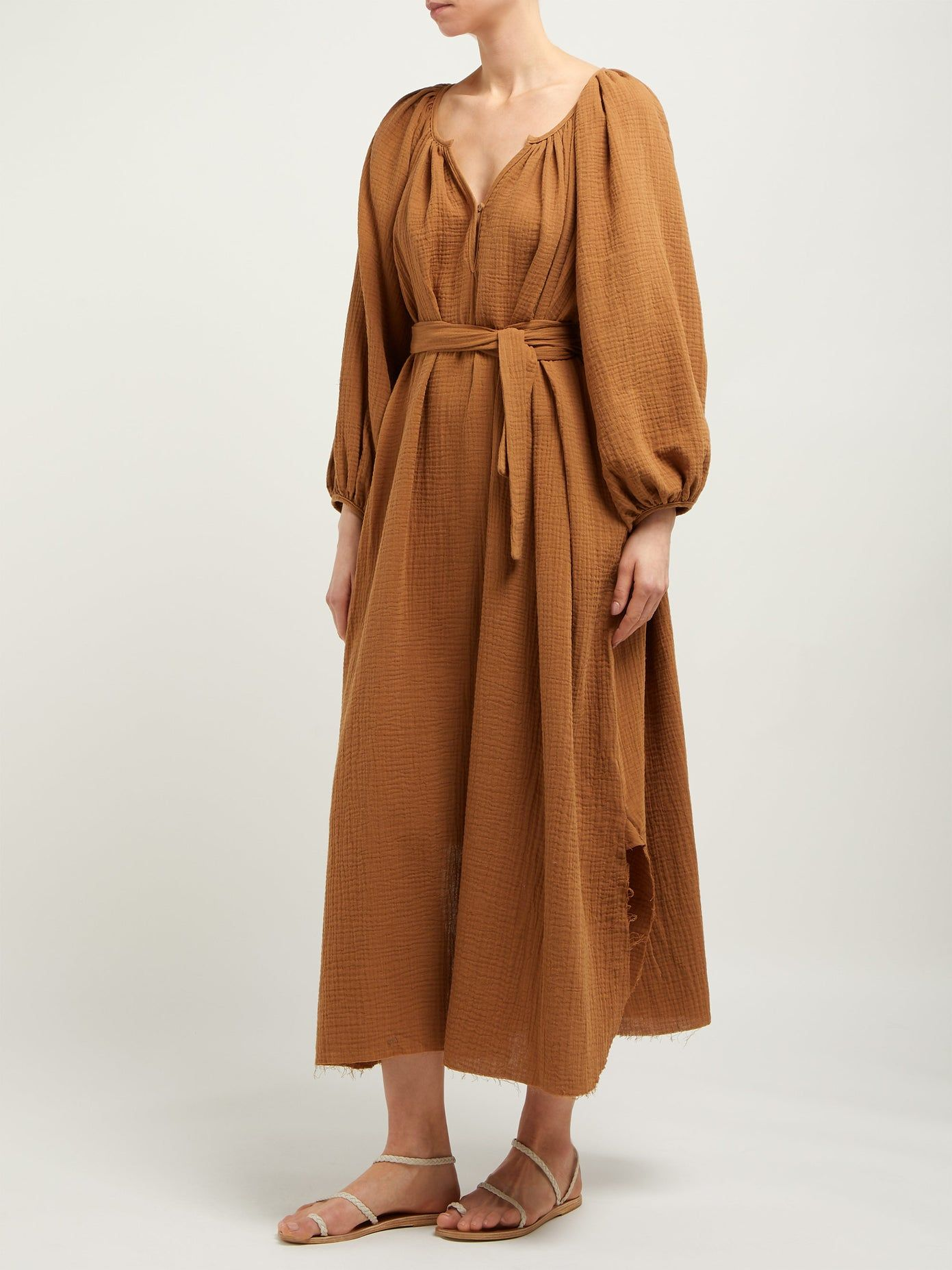 Organic Cotton Gauze Midi Dress Loup Charmant Matchesfashion Uk Gauze Dress Cotton Gauze Dress Modest Dresses [ 1854 x 1391 Pixel ]