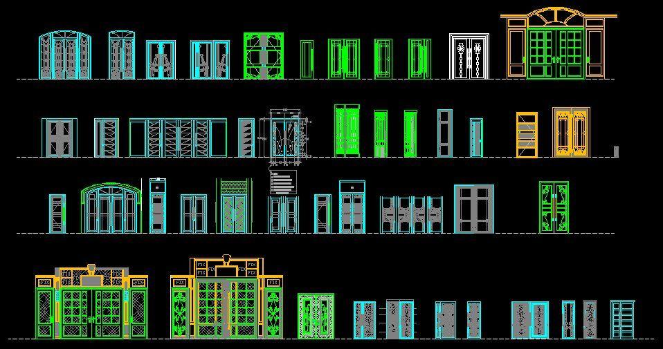 Entrance Design Cad Library Autocad Blocks Autocad