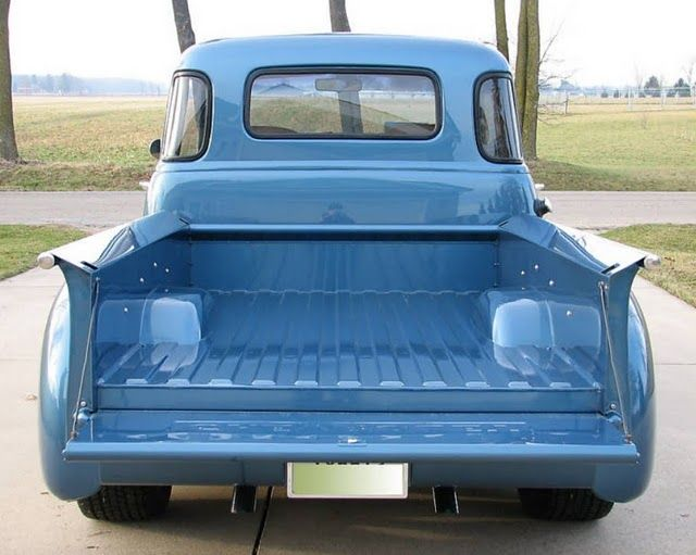 1954chevy5wpickup6 Tubbed and channeled bed floor