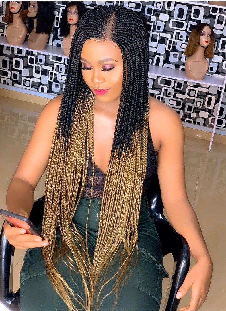 Braided wigs/ Braids/Ghana weaving /Wig for women Etsy