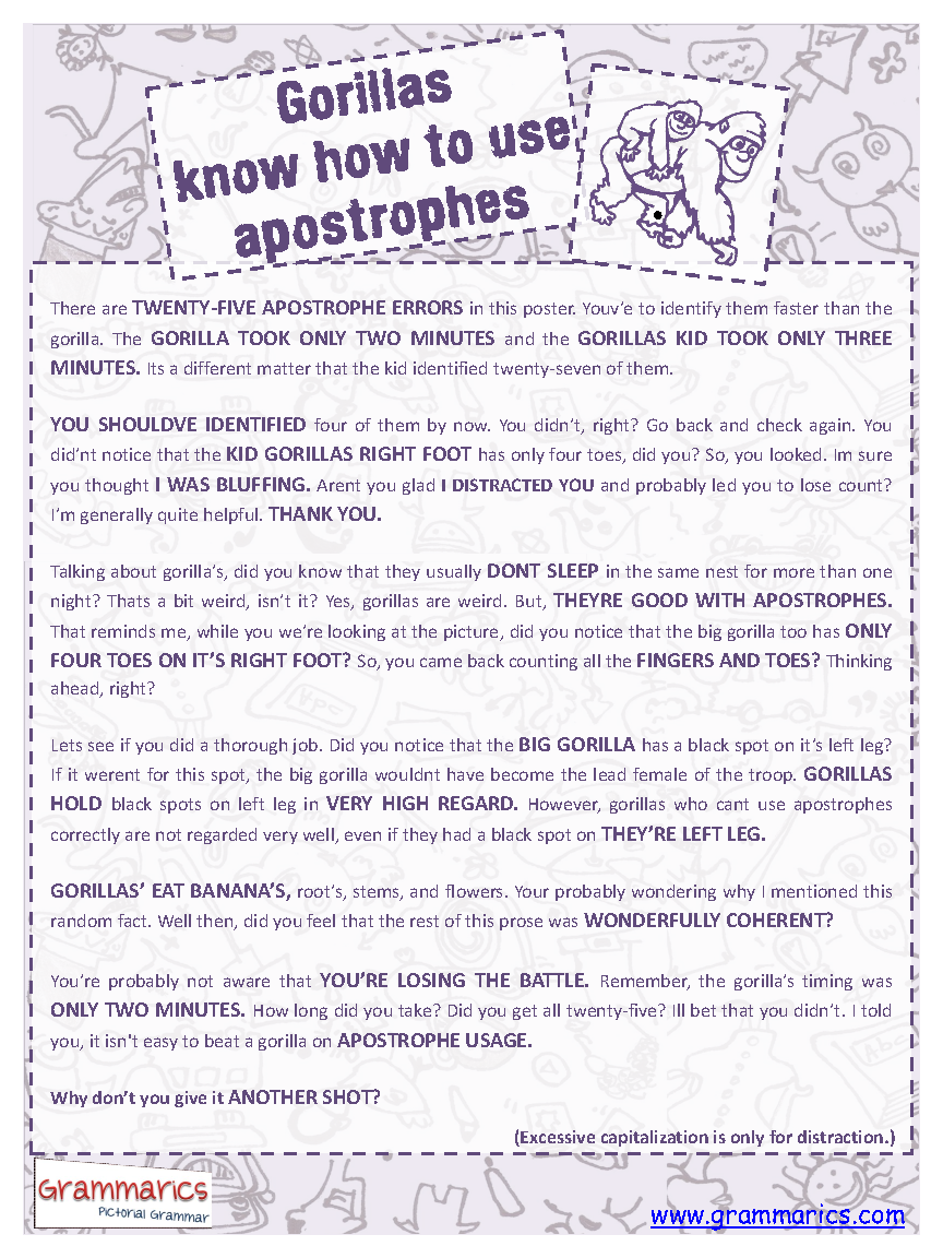 30 Apostrophe Worksheet Middle School - Free Worksheet Spreadsheet [ 1152 x 864 Pixel ]